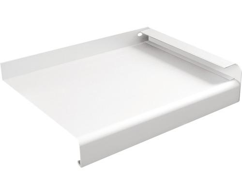 Fensterbank Alu weiß 150x23 cm inkl. Alu-Seitenabschluss (re+li)