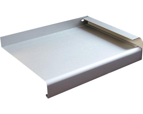 Fensterbank Alu silber 150x16,5 cm inkl. Alu-Seitenabschluss (re+li)
