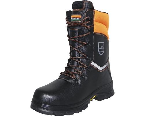 Schnittschutzstiefel schwarz/orange Gr. 45