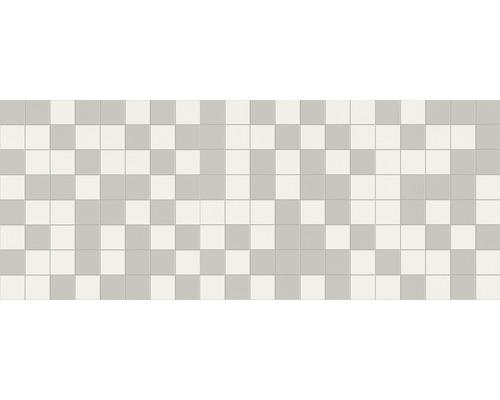 Steingut Wandfliese Kebel Weiß 20 x 50 cm