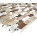 Aluminiummosaik silber/braun glänzend 30,1x30,4 cm