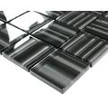 Glasmosaik schwarz glänzend 29,8x29,8 cm