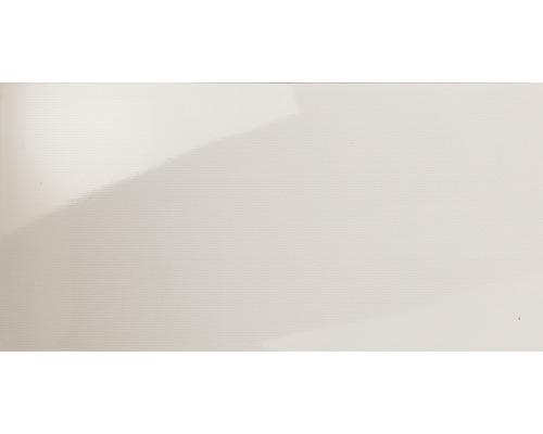 Wandfliese creme glänzend gestreift 30 x 60 cm