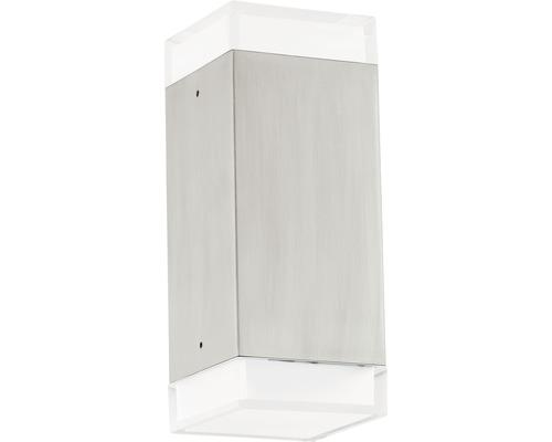 LED Außenwandleuchte 2x2,5W 2x160 lm 3000 K warmweiß H 195 mm Tabo edelstahl/weiß