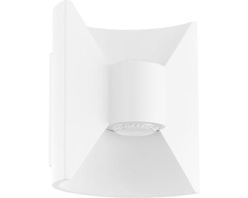 LED Außenwandleuchte 2x2,5W 2x180 lm 3000 K warmweiß H 175 mm Redondo weiß