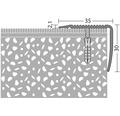 Treppenkantenprofil Alu gold gelocht 35x30x1000 mm