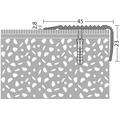 Treppenkantenprofil Alu bronze gelocht 45x23x2700 mm