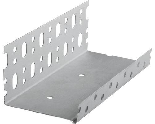 Sockelprofil CATNIC für Fassadendämmung und WDVS System aluminium 2,5 m x 123 mm