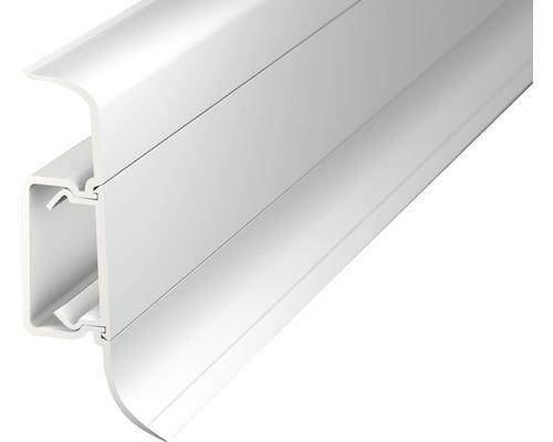 Klemmsockelleiste Sockelleistenkanal weiß 50x2500 mm