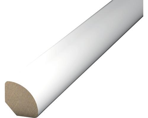 Viertelstab MDF weiß 12x12x2500 mm