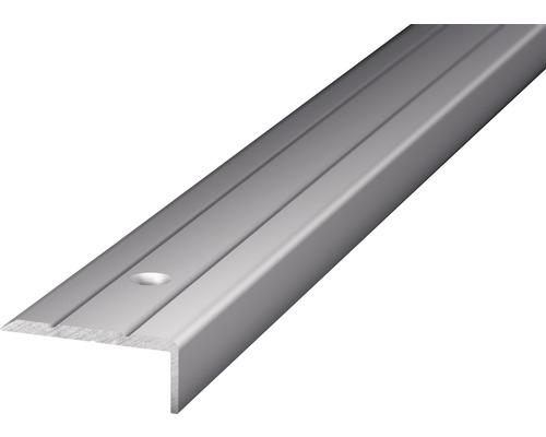 Winkelprofil Alu silber gelocht 24,5x10x2700 mm