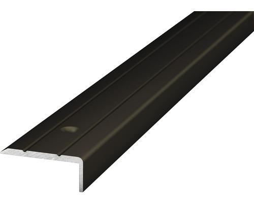 Winkelprofil Alu bronze gelocht 24,5x10x2700 mm