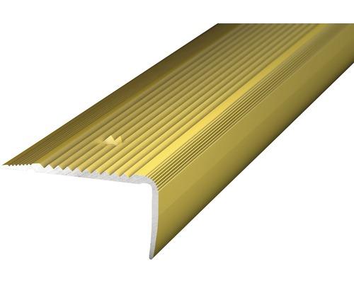 Treppenkantenprofil Alu gold gelocht 45x23x1000 mm