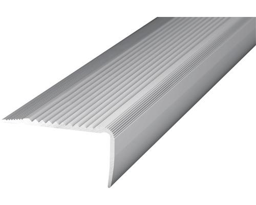 Treppenkantenprofil Alu silber gelocht 45x23x2700 mm