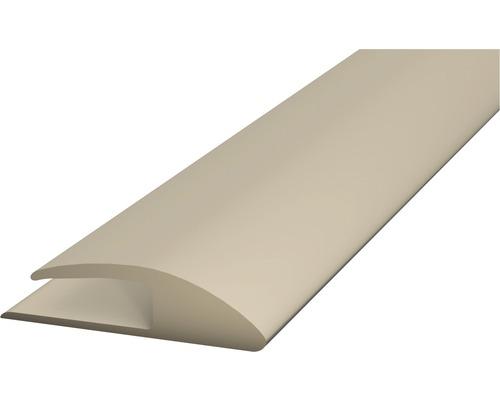 Einschubprofil Weich-PVC (einseitig) beige selbstklebend 30x1000 mm