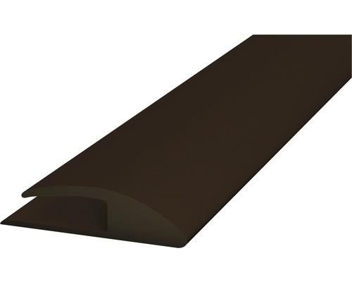 Einschubprofil Weich-PVC (einseitig) braun selbstklebend 30x1000 mm
