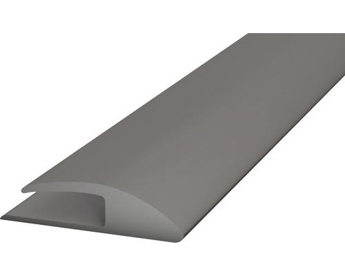 Einschubprofil Weich-PVC (einseitig) grau selbstklebend 30x1000 mm
