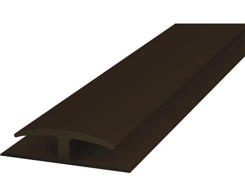 Einschubprofil Weich-PVC (beidseitig) braun selbstklebend 30x1000 mm