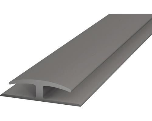 Einschubprofil Weich-PVC (beidseitig) grau selbstklebend 30x1000 mm