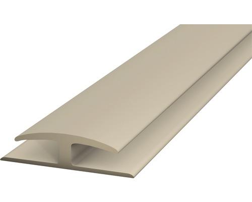 Einschubprofil Weich-PVC (beidseitig) beige selbstklebend 30x1000 mm