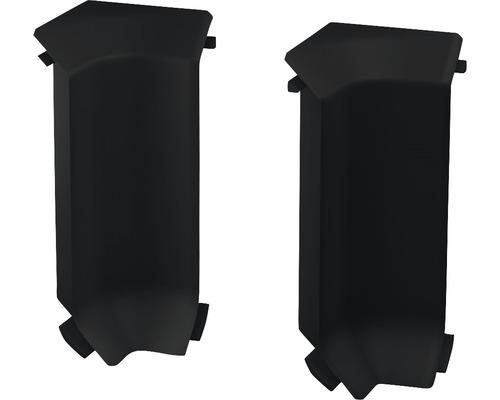 Innenecken für Sockelleiste Hartschaumn schwarz (2 Stück)