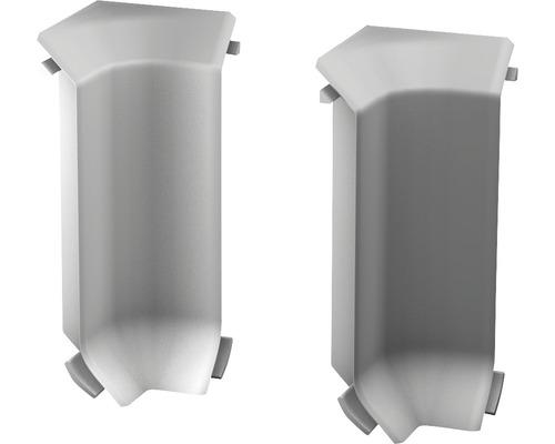 Innenecken für Sockelleiste Hartschaum hellgrau (2 Stück)