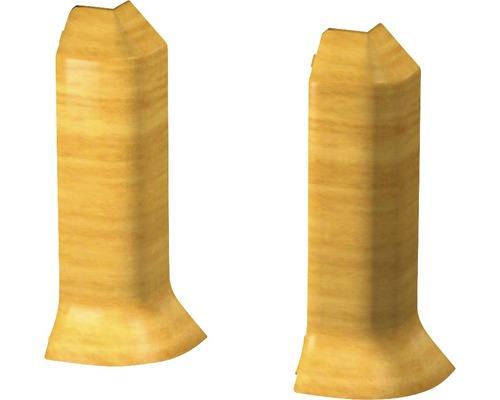 Außenecken für Sockelleiste Hartschaumn Eiche hell (2 Stück)