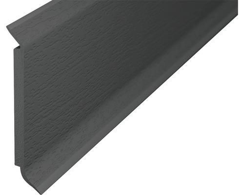 Sockelleiste Hartschaum dunkelgrau 60x2500 mm