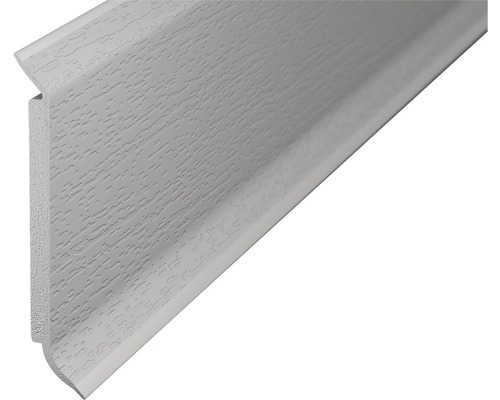 Sockelleiste Hartschaum hellgrau 60x2500 mm