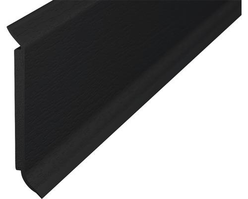 Sockelleiste Hartschaum schwarz 60x2500 mm