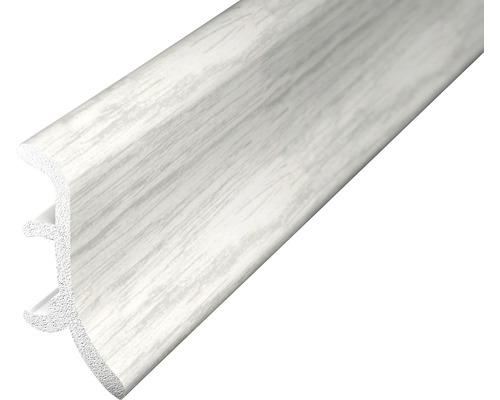 Sockelleiste geschäumt esche weiß 48x2500 mm