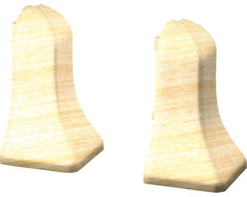 Außenecken für Sockelleisten geschäumt Ahorn (2 Stück)
