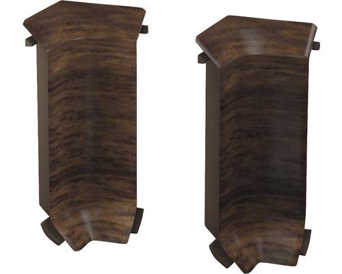 Innenecken für Sockelleiste Hartschaumn Nussbaum (2 Stück)