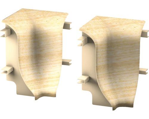 Innenecken für Sockelleisten geschäumt Ahorn (2 Stück)