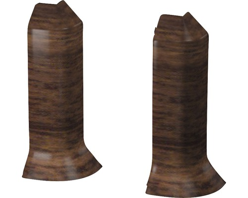 Außenecken für Sockelleiste Hartschaumn Nussbaum (2 Stück)