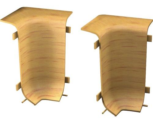 Innenecken für Klemmsockelleiste 50 mm Buche (2 Stück)