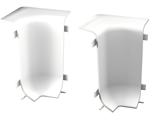 Innenecken für Klemmsockelleiste 50 mm weiss (2 Stück)