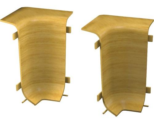 Innenecken für Klemmsockelleiste 50 mm Eiche hell (2 Stück)