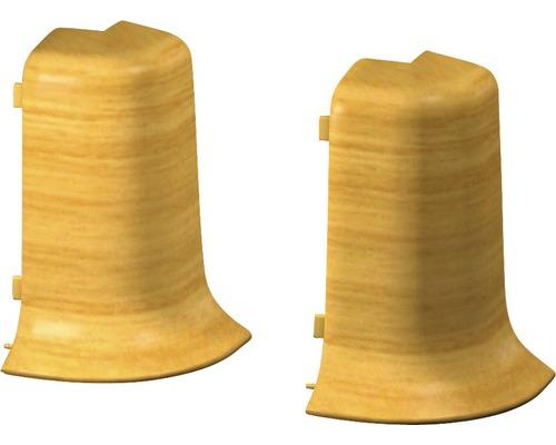Außenecken für Klemmsockelleiste 50 mm Eiche hell (2 Stück)