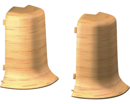 Außenecken für Klemmsockelleiste 50 mm Buche (2 Stück)