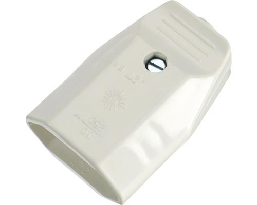 Eurokupplung weiß 2-polig für Innenbereich