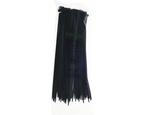 Haupa 262620 Kabelbinder UV-beständig 310x4,8 mm Nylon schwarz 100 Stück