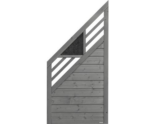 Abschlusselement Konsta Andria links 90 x 180/90 cm, grau