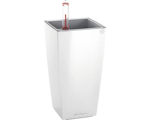 Pflanzvase Lechuza Mini Cubi Kunststoff 8x9x18 cm weiß inkl. Erdbewässerungssystem und Wasserstandsanzeiger