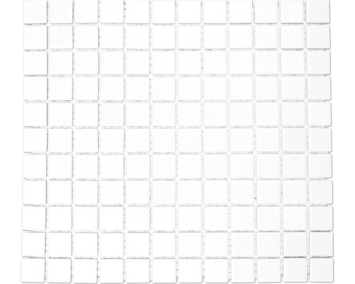 Keramikmosaik B-100 30,2x33 cm weiß