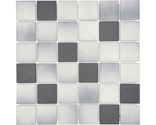 Keramikmosaik CD 212 30,5x30,5 cm mix grau/schwarz