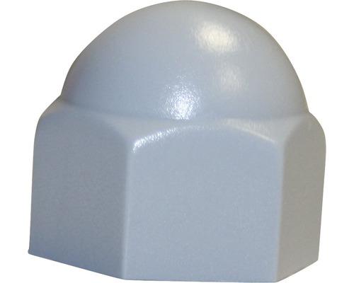 Sechskantschutzkappe eckig 5 mm grau, 100 Stück