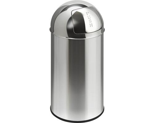 Schwingdeckeleimer Pushcan 40 Liter matt chrom