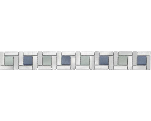 Bordüre Alu blau mix 4,8x39,8 cm