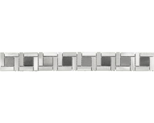 Bordüre Alu Manhatten grey mix 4,8x39,8 cm